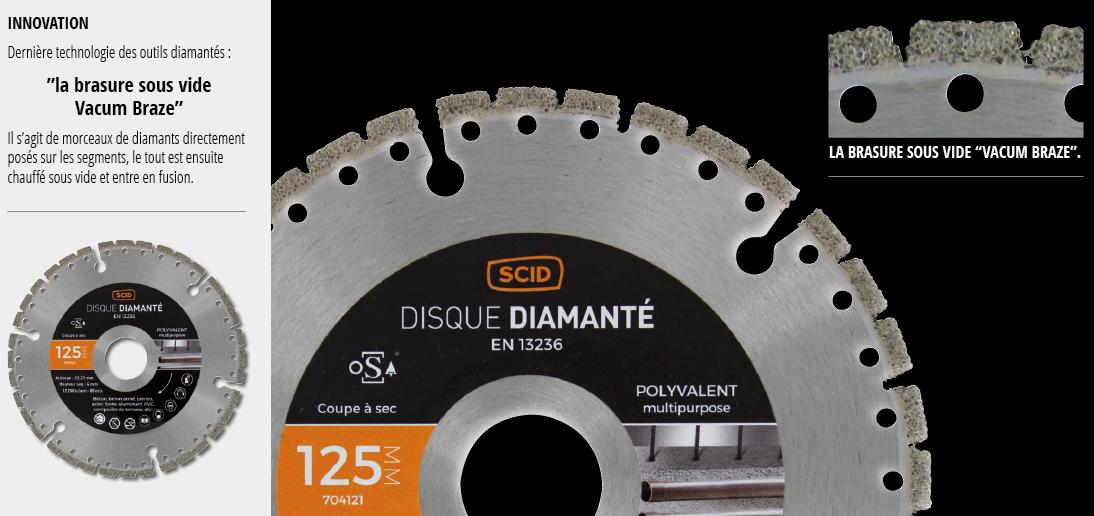 SCID - Disque diamantés pour béton, brique, pierre, carrelage.