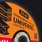 SCID - Disque résine synthétique pour découper, tronçonner, ébarber avec meuleuse